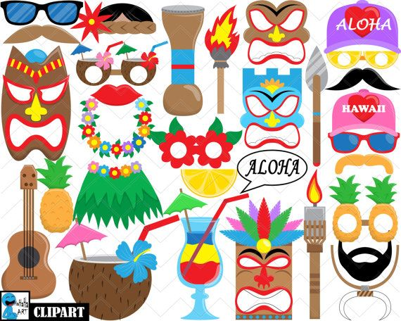 ♛♛♛ DIGITAL CLIPART - Hawaii Props ♛♛♛ The clipart images in this set may be used for both Personal and Commercial Use. Please read the Shop Policies.
