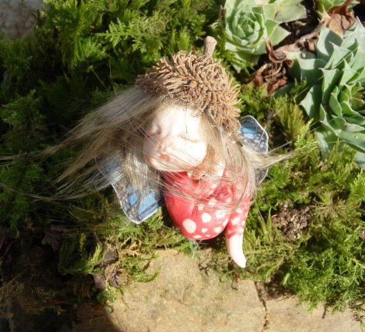 Ooak Miniature little magic fairy full sculpt por ArtistaToscana
