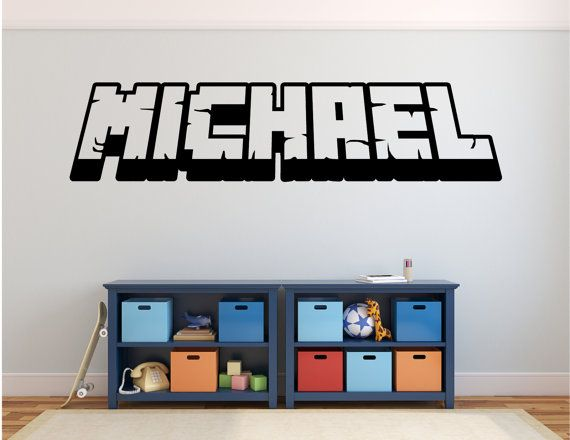 Personalized Gamer's Name 3D wall decal by SunshineStickers4you