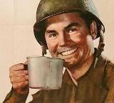 Los soldados americanos que estaban en el frente recibían el café en dosificaciones individualescon los que podían preparar café soluble con agua caliente. Asímismo, una vez al año, un submarino alemán iba hasta Turquía para traer café arábigo para Hitler. Fuente de la fotografía:www.circleofangels.org