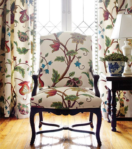 Thibaut Residence Baron Crewel Fabric Gorgeous Home