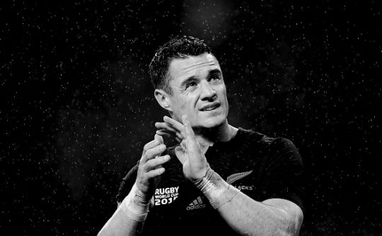 Dan Carter at the end of the match during the 2015 Rugby World Cup Semi Final match between South Africa and New Zealand at Twickenham Stadium [24.10.2015]