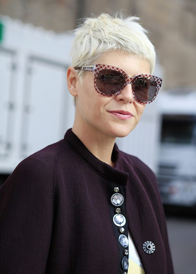 For a low-maintenance hairstyle try a boyish yet chic pixie cut like Parisian stylist Elisa Nalin