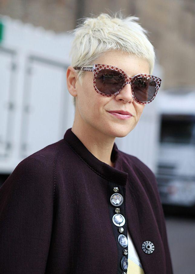 For a low-maintenance hairstyle try a boyish yet chic pixie cut like Parisian stylist Elisa Nalin