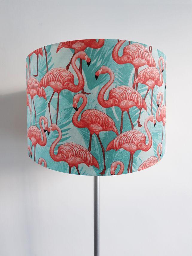 Handmade Pink /& Turquoise Flamingo Lampshade Light Shade Vintage Home House