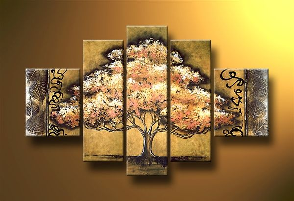 Cool Cheap Wall Art: The Chocolate Tree- Beautiful Hand Painted Canvas Wall Art