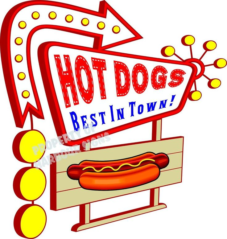 Hot Dogs Decal 14 Quot Best In Town Concession Food Truck