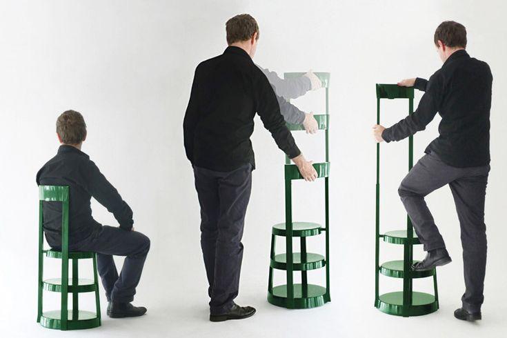Escabeau chair (prototype), VIA, 2007