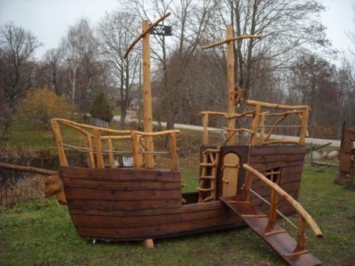 Piratenschiff Holzhaus Kinderspielhaus Gartenhaus Spielhaus Holz