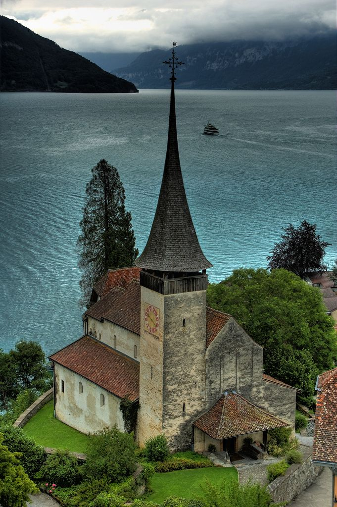 The castle church at Schloss Spiez, Switzerland / Photo by Ed Coyle #travel #photography