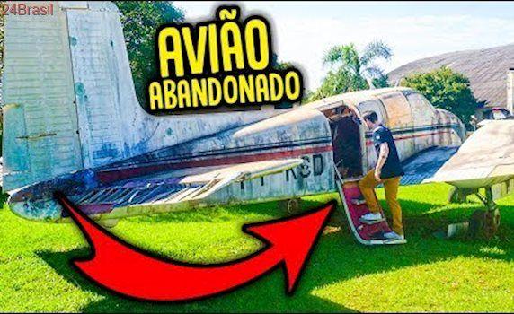 COMO É UM AVIÃO ABANDONADO !!! [ REZENDE EVIL ]