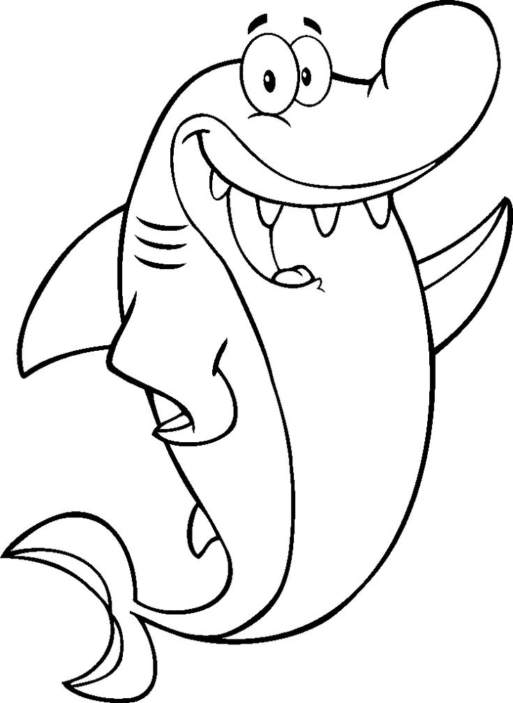 shark coloring page sharks Pinterest Sharks Coloring and Coloring pages