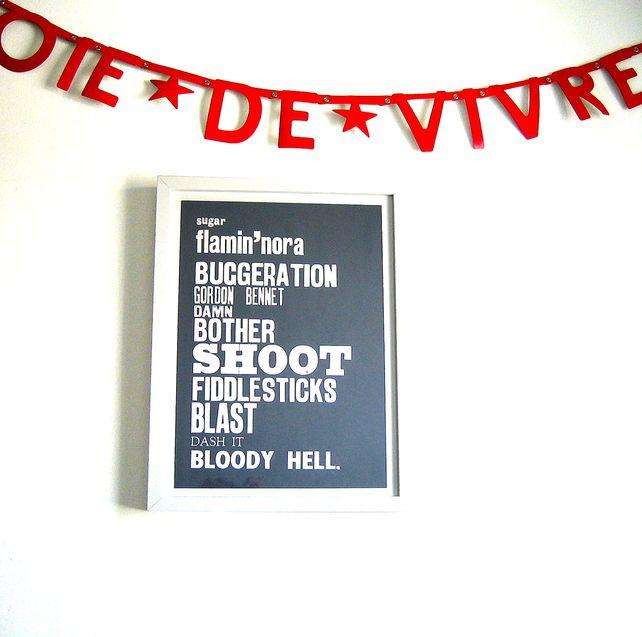 Wonderful granny swearwords print.