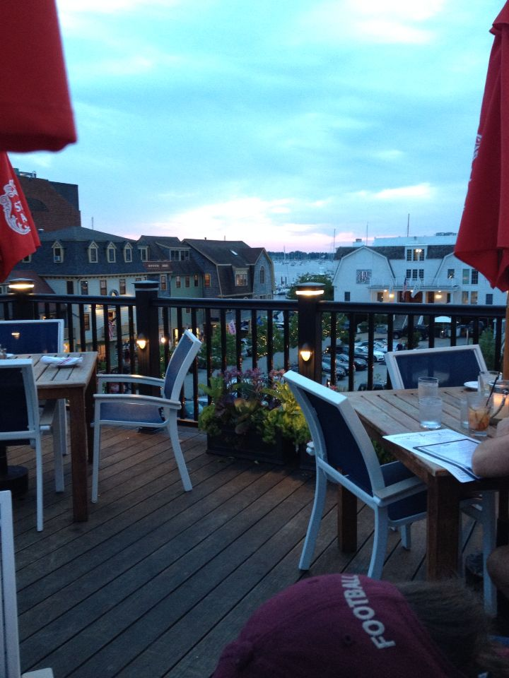 Rooftop dining. Midtown Oyster Bar, Newport RI