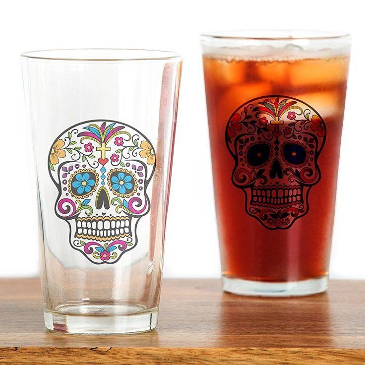 Sugar Skull Drinking Glass - Pint Glass - My Sugar Skulls