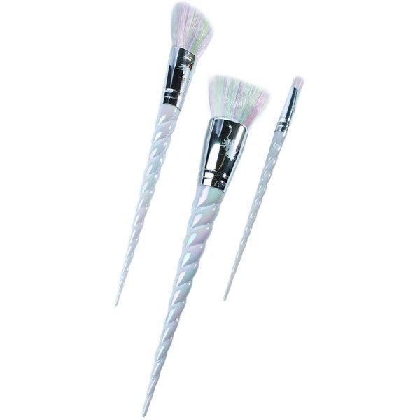 Unicorn Lashes Unicorn Brush Set found on Polyvore featuring beauty products, makeup, makeup tools, makeup brushes, fillers, beauty, brush set, set of brushes and set of makeup brushes