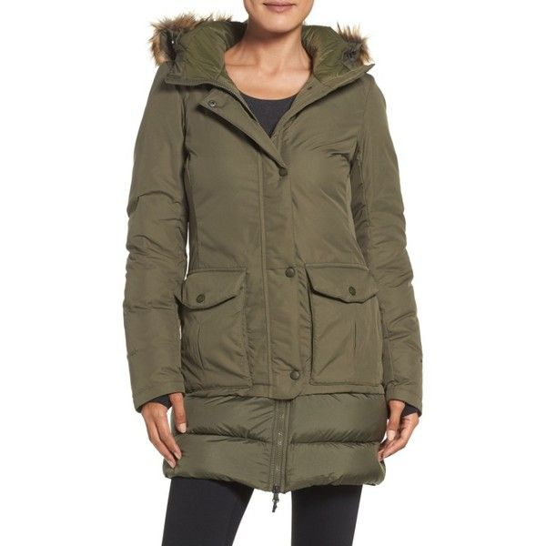 Women's The North Face Tuvu Water Repellent Parka With Faux Fur Trim ($190) ❤ liked on Polyvore featuring outerwear, coats, grape leaf, water repellent coat, faux fur trim parka, brown parka, the north face® coats and the north face parka
