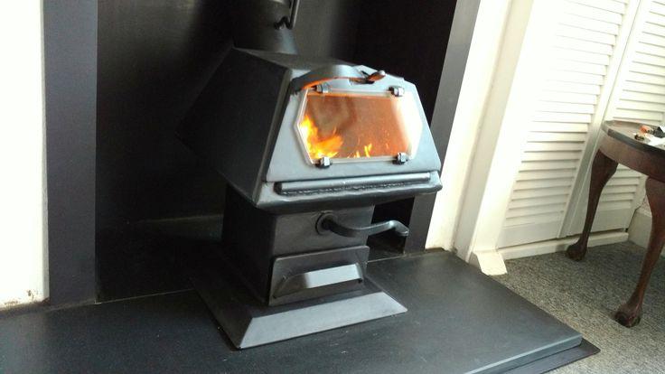 A Hybrid installation with slate hearth.
