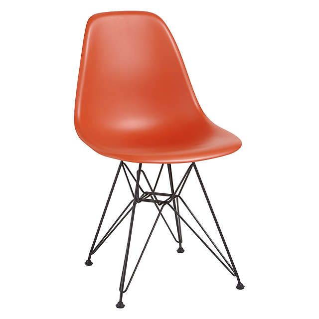 BuyVitra Eames DSR 43cm Side Chair, Red / Black Online at johnlewis.com