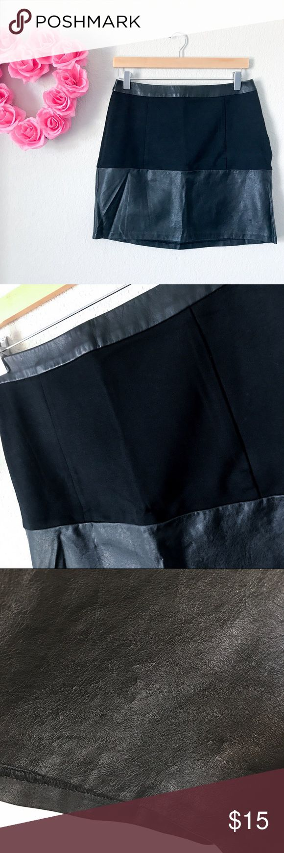 The Limited Faux Leather Elastic Pencil Skirt Preloved but still in good condition! There are some pressure marks on the front as you can see in pic 3, but nothing that wouldn't make it unwearable. Really edgy. Elastic around the hips. Size 4. Made in Vietnam. 65% Viscose Rayon, 26% Nylon, 9% Spandex. Faux Leather is 100% Viscose. Measurements: Length:16inch Waist:14inch Hips:19inch The Limited Skirts Pencil