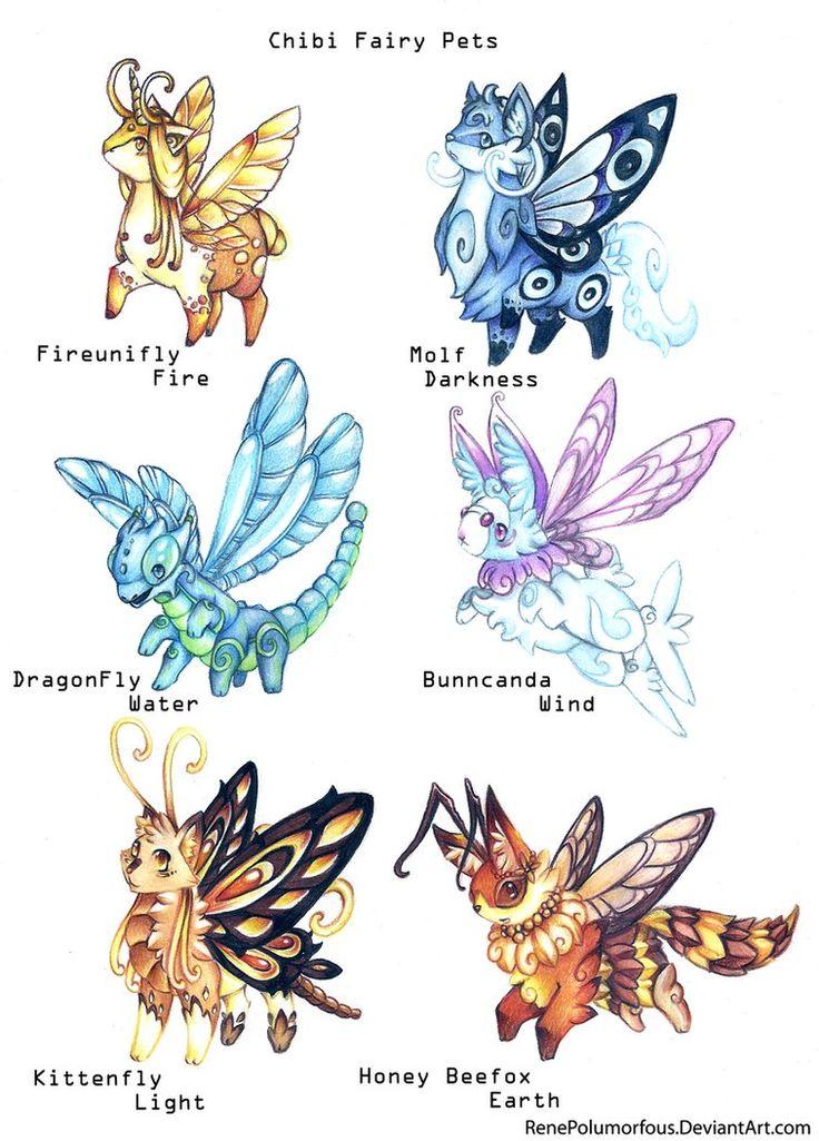.Chibi Fairy Pets. by RenePolumorfous on deviantART