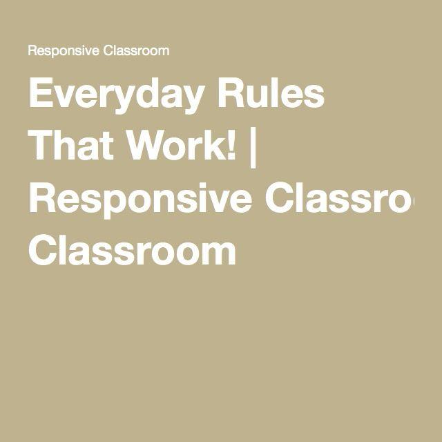 Responsive Classroom Design : Best responsive classroom ideas on pinterest morning