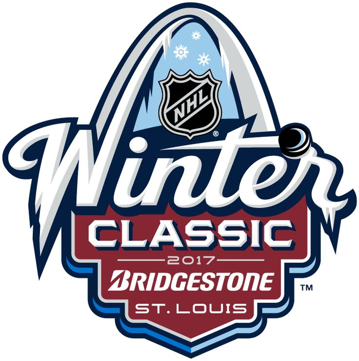 NHL Winter Classic Sponsored Logo (2017) - 2017 NHL Winter Classic at Busch Stadium in St. Louis, Missouri. St. Louis on January 2, 2017. St. Louis Blues VS Chicago Blackhawks