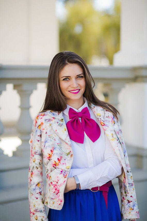 Fuchsia Matte Women's Bow Tie Genuine New by #BowsByVaniaSzasz #bowtie #etsy
