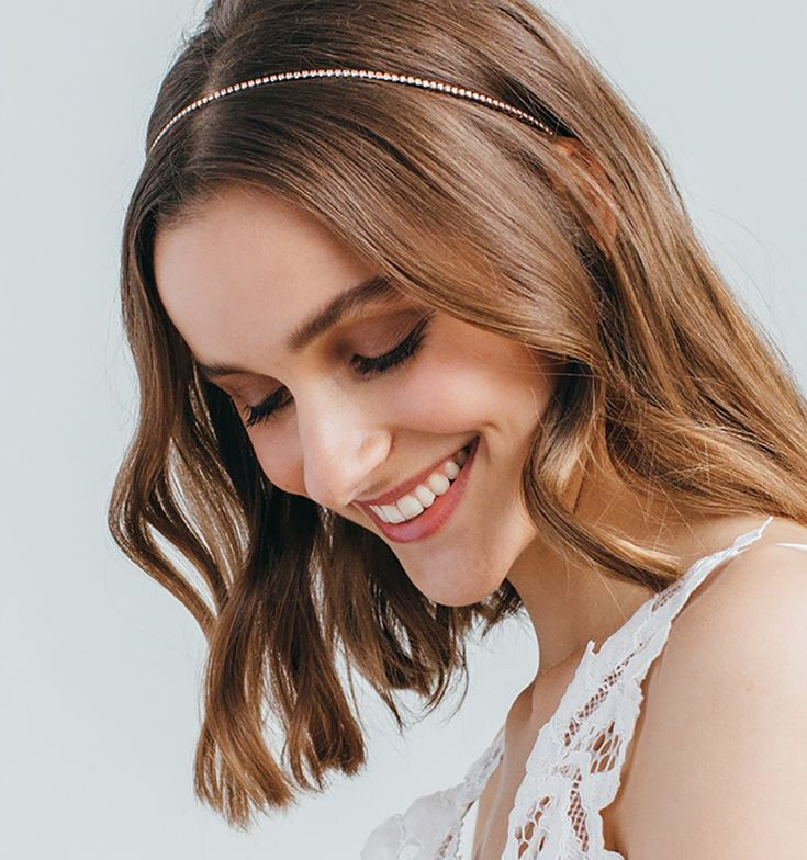 A refined single strand of petite Swarovski crystals, a staple headband, perfect for everyday wear or to add a little sparkle to a night-out outfit. Made by hand in New York City.  We ship worldwide! Orders ship within 3-5 business days. Please email shop@jenniferbehr.com or call 718-360-1875 to request expedited shipping. We are a small team and are happy to answer your questions 10am - 6pm, Monday - Friday :) $225.00