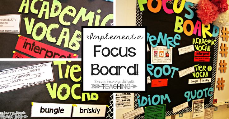 Dianna discovered her love of focus boards when she was a Reading Specialist and Literacy Coach. Now she and her 5th graders use them all the time.