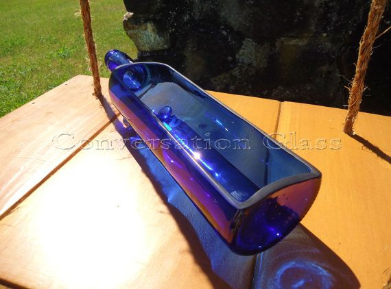 Our own Conversation Glass bottle tray design with a vodka twist - made from a Skyy Vodka Bottle