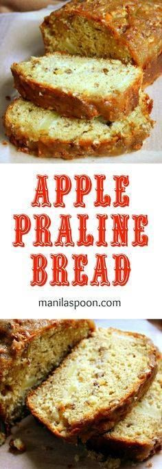 Apple Praline Bread Apple Praline Bread - No Oil or Butter is...  Apple Praline Bread Apple Praline Bread - No Oil or Butter is used in the batter yet this bread is so moist and delicious!!! The crunchy praline topping brings this over the top! You must make this! Recipe : http://ift.tt/1hGiZgA And @ItsNutella  http://ift.tt/2v8iUYW