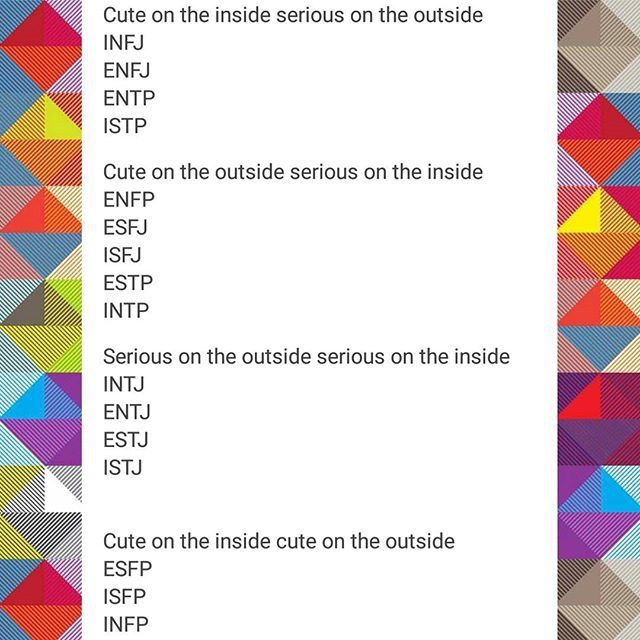 Ins and outs of the 16 MBTI personality types
