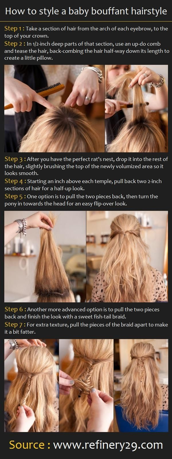 How To Style a Baby Bouffant Hairstyle