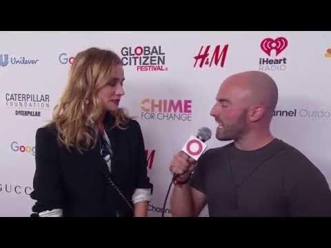 DIANE KRUGER backstage with Matt Santoro at Global Citizen Festival 2015 - YouTube