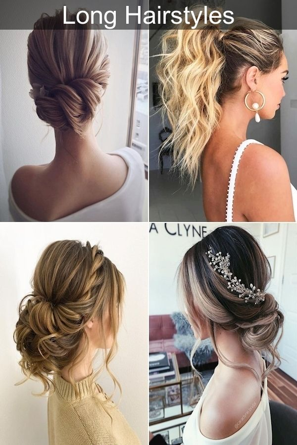 Hair Ideas Long Hair Easiest Updo Easy Updo For Medium Hair Do It Yourself In 2020 Long Hair Styles Hair Do For Medium Hair Easy Updos For Long Hair