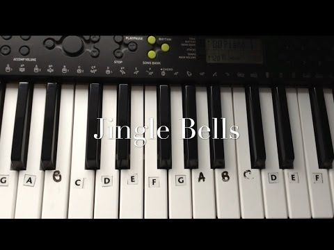 ▶ Jingle Bells Keyboard/Piano Tutorial for Beginners - Easy - YouTube