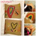 crayon and sandpaper transfer