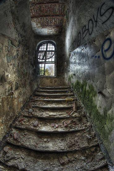 Old asylum in Poland: http://www.redbubble.com/people/kefir/art/4904762-zofi-wka-asylum-otwock-poland-4