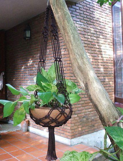 Simplex series II  Macrame plant hanger Model X by handiworkclub, $18.50