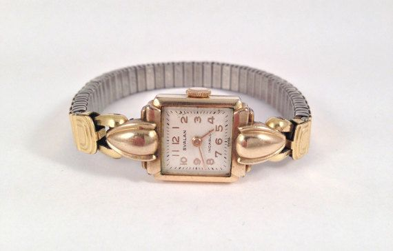 1950s Rolled Gold Womens Watch Old Mechanical by StonebrookVintage