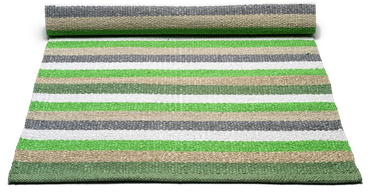Plastic matta - Green/multistriped från Rug Solid hos ConfidentLiving.se