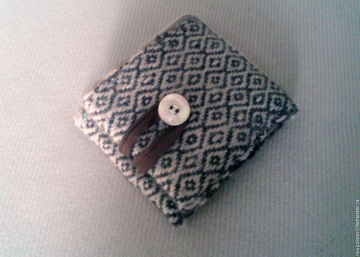 Купить Кошелек домотканый шерстяной - серый, кошелек ручной работы, кошелек женский, кошелек из шерсти
