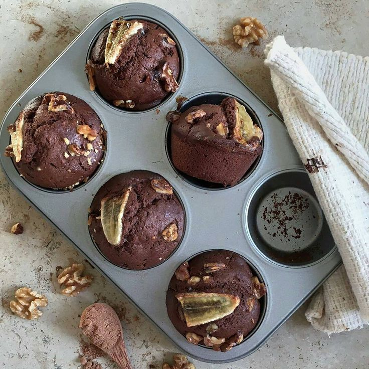 Regram from @papaya_sunshine -  Banana chocolate muffin 😍 2 cups of spelt flour 3/4 cup of almond milk 1/2 cup of melted @nutriseeduk coconut oil 1 small mashed banana 1/2 cup of maple syrup 1/4 cup of @nutriseeduk cocoa powder 2 tsp baking powder 2 tbs of vanilla bean extract Some crushed walnuts to top with Preheat oven to 160c  In a bowl combine al the wet ingredients and whisk together until evenly combined. In a separate bowl combine all the dry ingredients. Add dry to wet and mix…