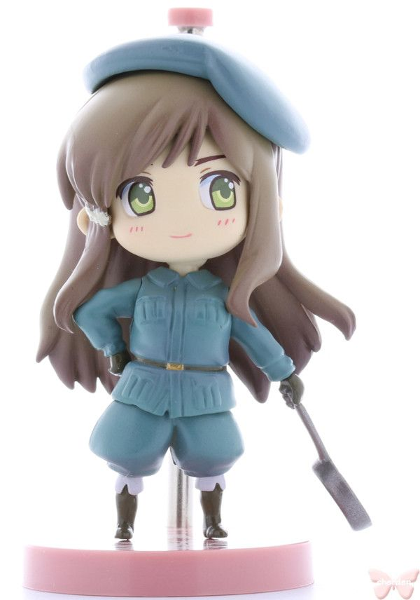 Product details: Hungary This adorable chibi figure attaches to her stand with a magnetic connection! The head and body are flexible, so you can adjust the pose a little bit. Item Title: One Coin Figu