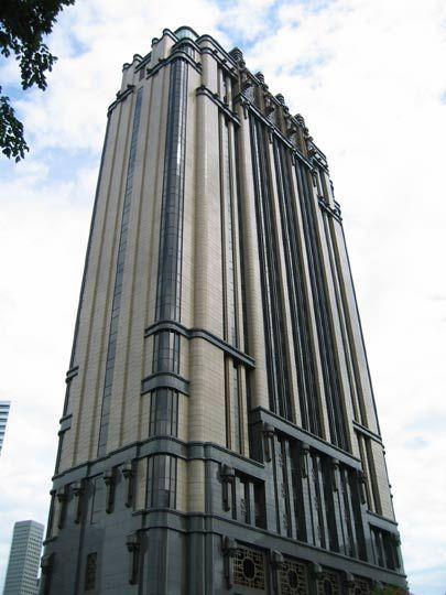 Parkview Square, Singapore, 2003. Art Deco.