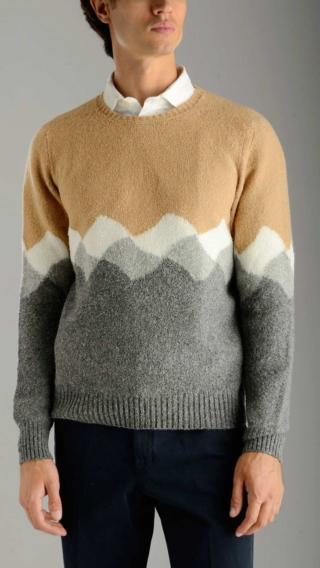 Drumohr - Grey and beige geelong jumper