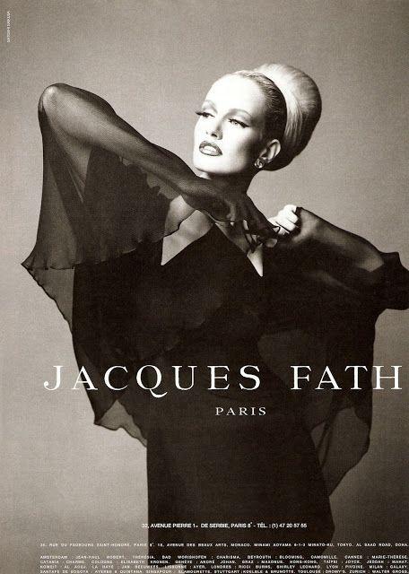 KAREN MULDER Jacques Fath Ad 90s Photo: Satoshi Sakusa