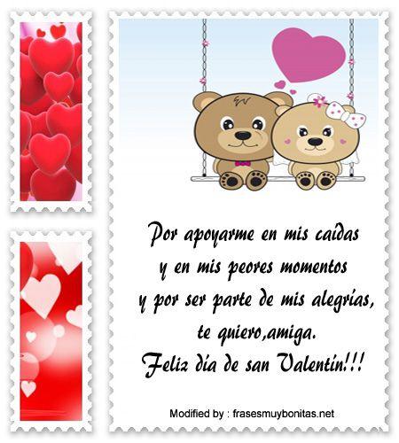 Bonitas Frases Mis Amigos En San Valentin Imagenes Pinterest