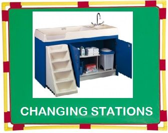 Daycare Furniture Direct Changing Table And Diaper Changing Stations  Nursery Changing Furniture With Sink And Stairs